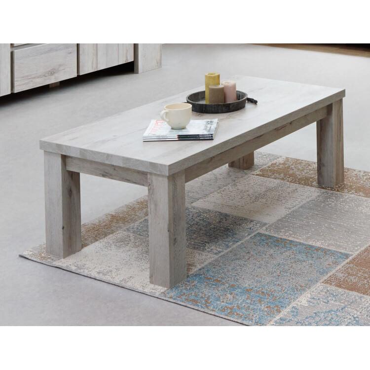 Table basse rectangulaire contemporaine coloris chêne gris Jonathan
