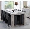 Table de salle à manger contemporaine coloris chêne gris Jonathan II