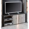 Meuble TV contemporain 135 cm coloris chêne gris/anthracite Cobra