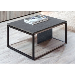 Table basse contemporaine coloris chêne gris/anthracite Cobra II