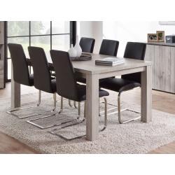 Table de salle à manger contemporaine coloris chêne gris Cobra