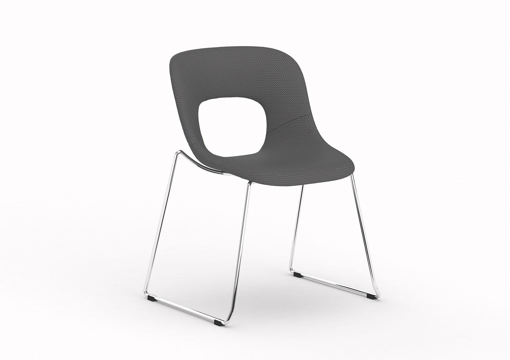 Chaise d'accueil design en tissu (lot de 2) Istanbul