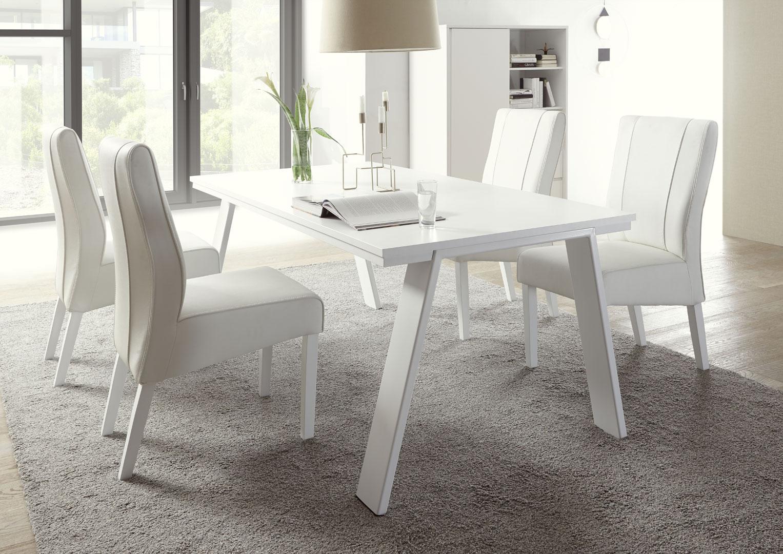 Table De Salle A Manger Design Laque Blanc Mat Martin Matelpro