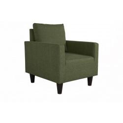 Fauteuil fixe contemporain en tissu vert Suzana