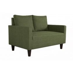 Canapé fixe 2 places contemporain en tissu vert Suzana