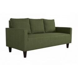 Canapé fixe 3 places contemporain en tissu vert Suzana