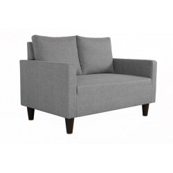 Canapé fixe 2 places contemporain en tissu gris Suzana