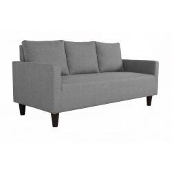 Canapé fixe 3 places contemporain en tissu gris Suzana