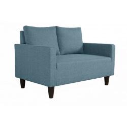 Canapé fixe 2 places contemporain en tissu bleu jean Suzana