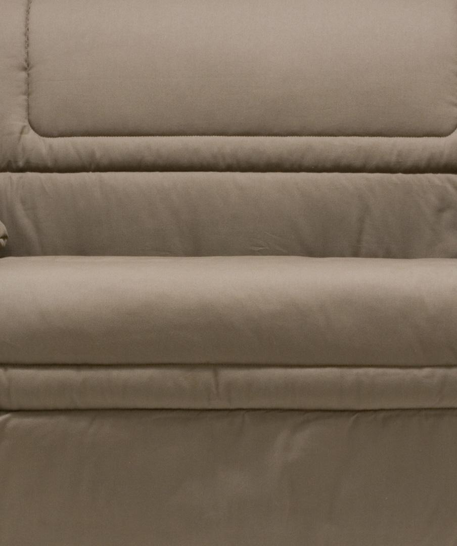 Housse BZ & 2 housses de coussins coloris taupe Tobago