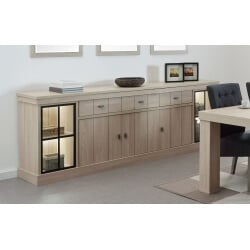 Buffet/bahut contemporain 250 cm coloris orme naturel Vaucluse