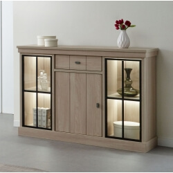Buffet/bahut contemporain 144 cm coloris orme naturel Vaucluse