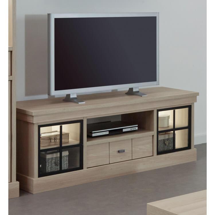 Meuble Tv Contemporain 155 Cm Coloris Orme Naturel Vaucluse
