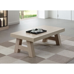 Table basse contemporaine rectangulaire coloris orme naturel Vaucluse