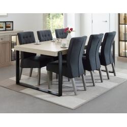 Table de salle à manger contemporaine coloris orme naturel Vaucluse IV