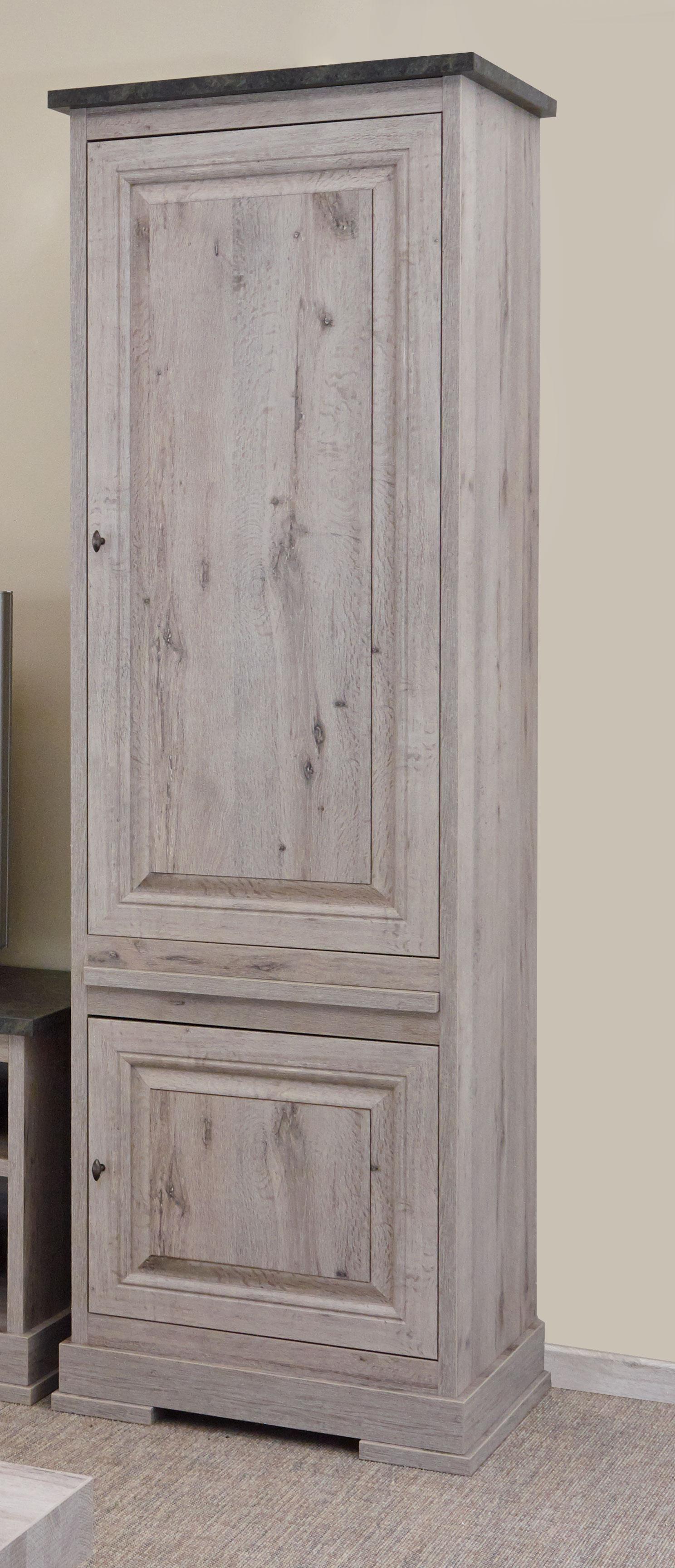 Colonne contemporaine coloris chêne nature/gris marbre Bogotta