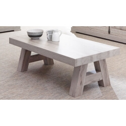 Table basse contemporaine rectangulaire coloris chêne naturel Bogotta