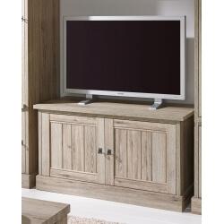Meuble TV contemporain 122 cm chêne beige Mayorke