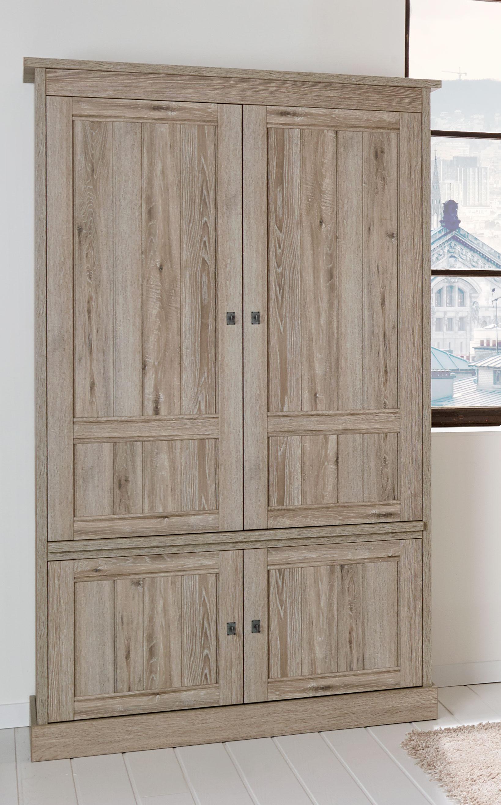 Vaisselier/argentier contemporain portes pleines coloris chêne beige Mayorke