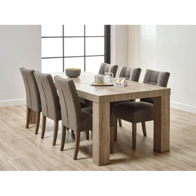 Table de salle à manger contemporaine coloris chêne beige Mayorke I