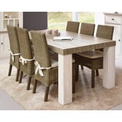 Table de salle à manger contemporaine coloris chêne beige/mélèze Samos I