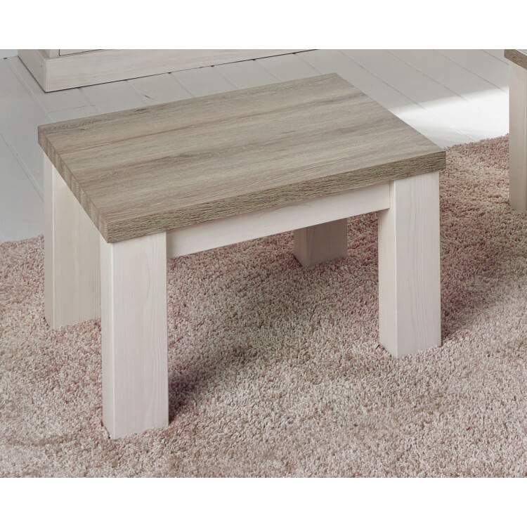 Table Basse Contemporaine Carree Coloris Chene Beige Meleze Samos