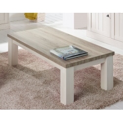 Table basse contemporaine rectangulaire coloris chêne beige/mélèze Samos