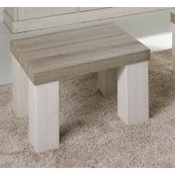 Table basse contemporaine carrée coloris chêne beige/mélèze Samos I