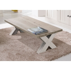 Table basse contemporaine rectangulaire coloris chêne beige/mélèze Samos II