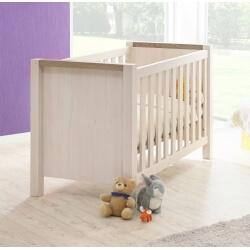Lit bébé à barreaux contemporain beige cristal/mélèze Syria