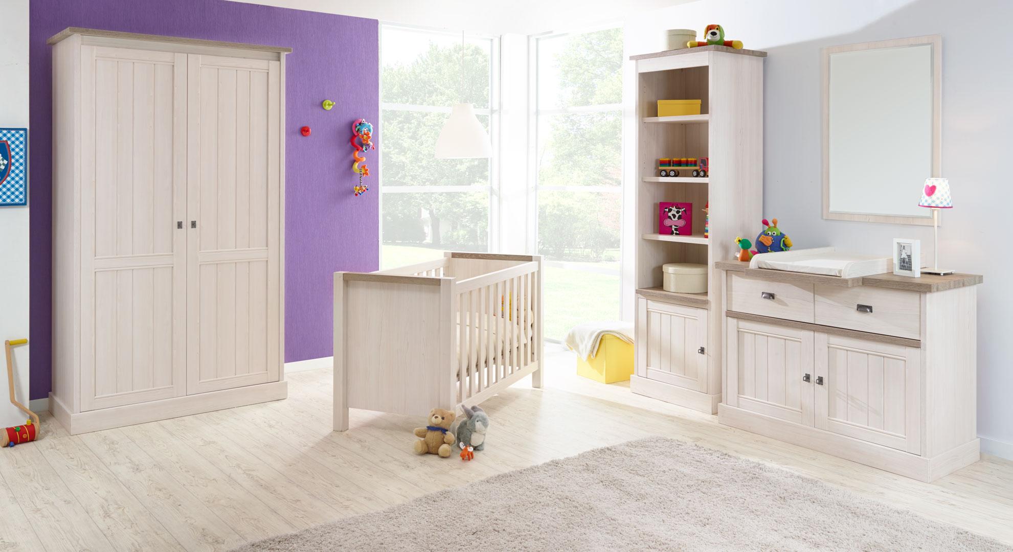 Chambre bébé contemporaine beige cristal/mélèze Syria