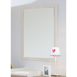 Miroir rectangulaire contemporain beige cristal Syria