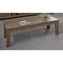 Table basse retangulaire contemporaine coloris chêne brun Koxie