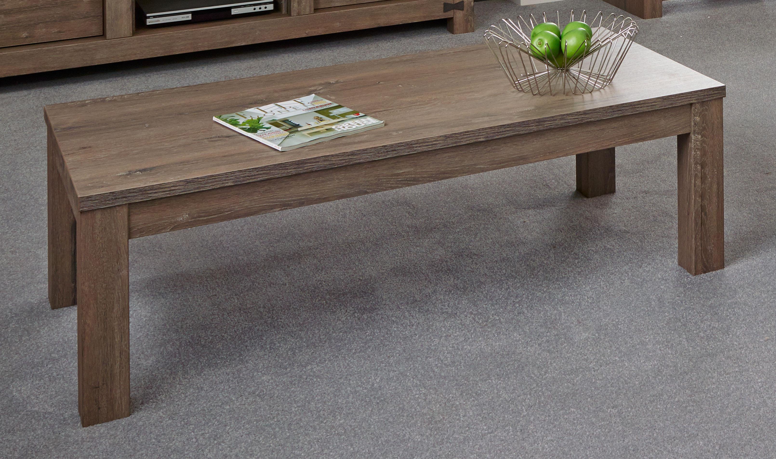 Table basse retangulaire contemporaine coloris chêne brun Koxie