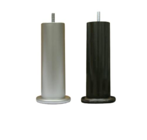 Jeu de 4 pieds cylindriques H 22 cm-Gris