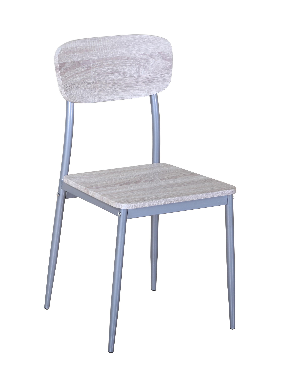 Chaise de cuisine contemporaine coloris chêne sonoma (lot de 4) Aveyron