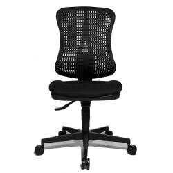 Chaise de bureau contemporaine en tissu noir Juliane