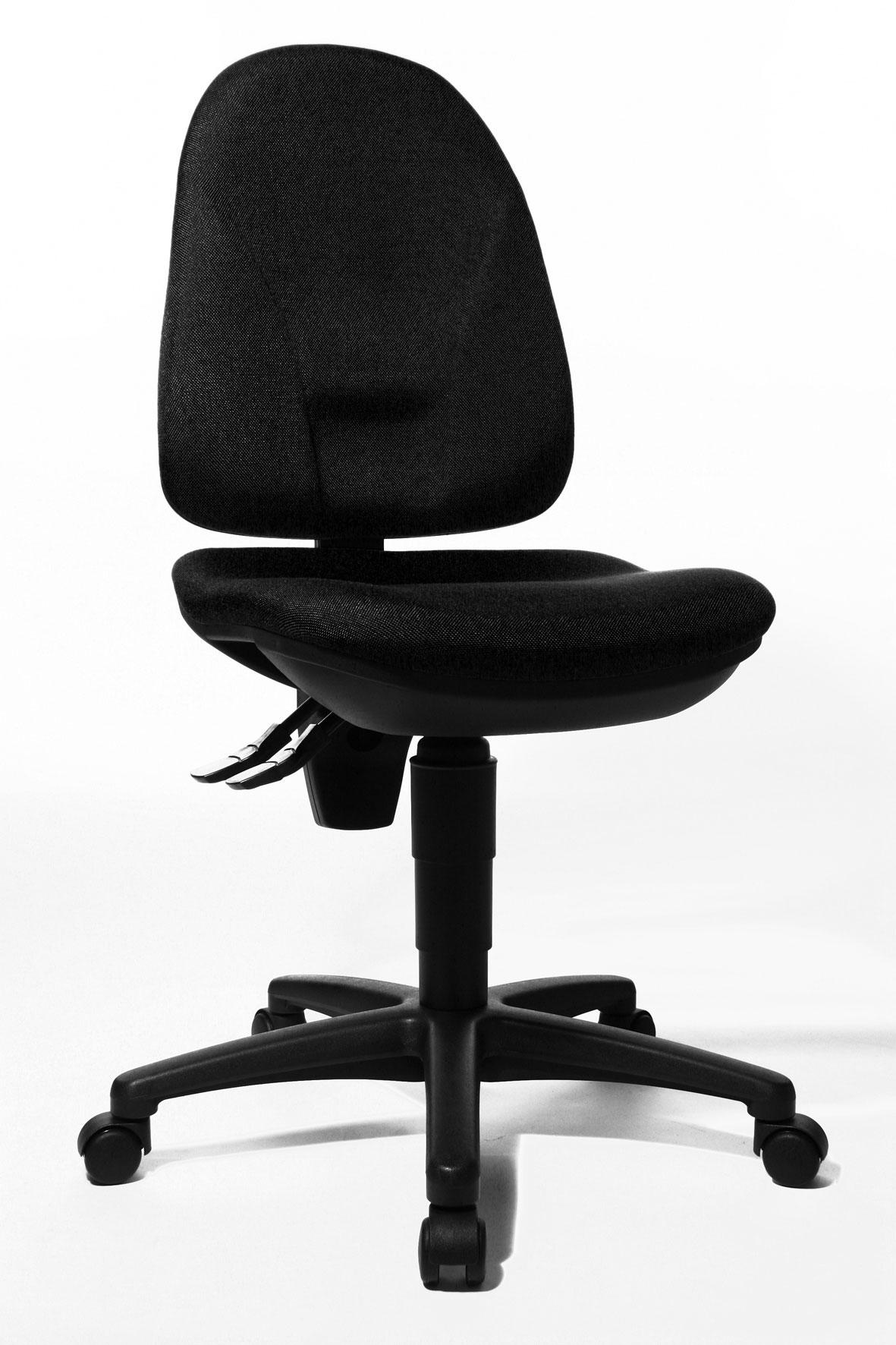Chaise de bureau contemporaine en tissu noir Ludovic