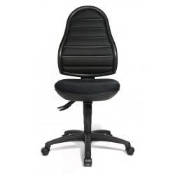 Chaise de bureau contemporaine en tissu noir Skate