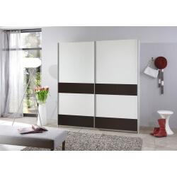 Armoire contemporaine portes coulissantes blanc alpin/lave Sylvestre