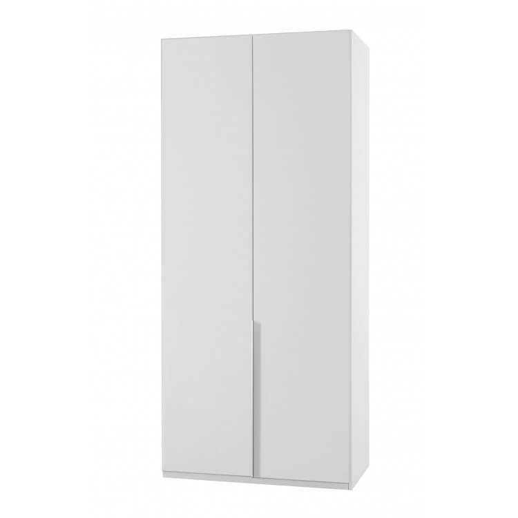 Armoire contemporaine 2 portes blanc alpin Florida