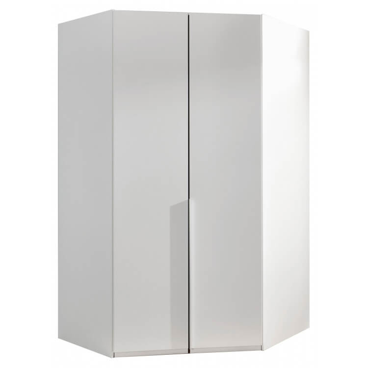 Armoire d'angle contemporaine blanc alpin Florida