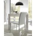 Table de salle à manger contemporaine pin blanc Albina
