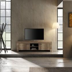 Meuble TV contemporain 180 cm chêne canyon Osland