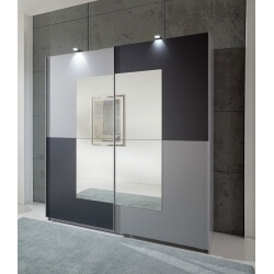 Armoire moderne aluminium/anthracite Tokyo