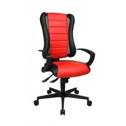 Fauteuil de bureau design en PU rouge Jamaique