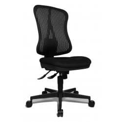 Chaise de bureau contemporaine en tissu noir Pacifique