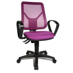 Chaise de bureau contemporaine en tissu violet Zumba
