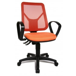 Chaise de bureau contemporaine en tissu orange Zumba