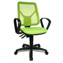 Chaise de bureau contemporaine en tissu vert Zumba